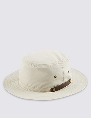 Pure Cotton Pull On Hat with Cool & Fresh™, BEIGE, catlanding