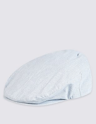Gorra inglesa de sirsaca , AZUL/BLANCO, catlanding