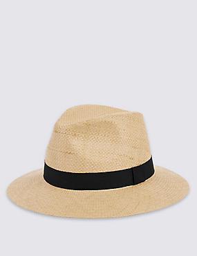 Chapeau style ambassadeur à motif texturé , TABAC, catlanding