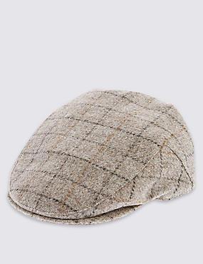 Pure Wool Mini Thinsulate™ Flat Cap with Stormwear™, NEUTRAL, catlanding