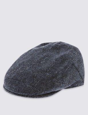 Плоская кепка из чистой шерсти с технологиями Thinsulate™ и Stormwear™ от Marks & Spencer
