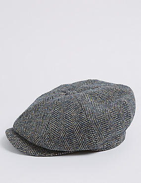 Pure Wool Herringbone Thinsulate™ Hat, NAVY MIX, catlanding