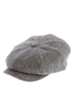 Кепка-шестиклинка из чистой шерсти в гусиную лапку с технологиями Thinsulate и Stormwear™