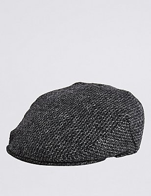 Pure Wool Thinsulate™ Flat Cap with Stormwear™, CHARCOAL, catlanding