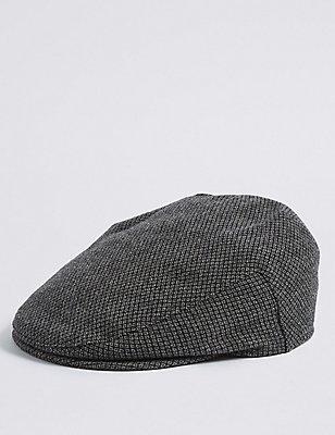 Wool Blend Thinsulate™ Flat Cap with Stormwear™, GREY, catlanding