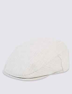 Casquette anglaise 100% coton à rayures, GRIS, catlanding