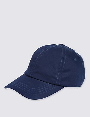Pure Cotton Baseball Hat, NAVY, catlanding
