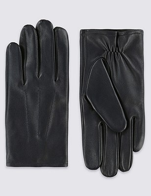 Leather Gloves with Thinsulate™, , catlanding