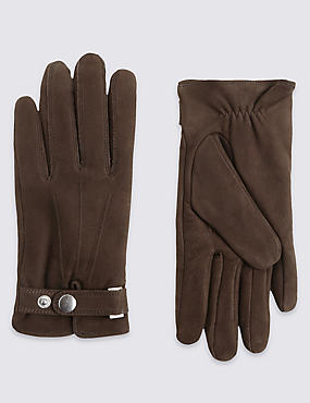 Suede Cuff Gloves with Thinsulate™ , BROWN, catlanding