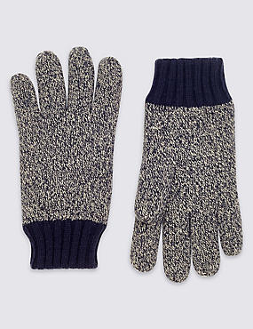Thinsulate™ Knitted Gloves, NAVY MIX, catlanding