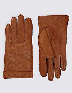 Italian Leather Gloves with Thinsulate™, TAN, catlanding