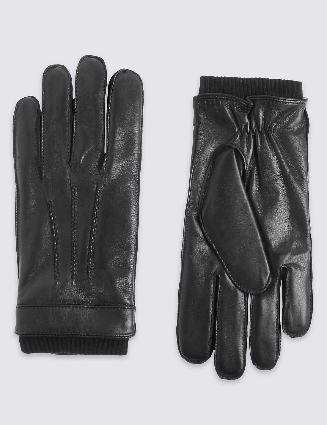 Mens leather gloves ireland - Leather Thinsulate Trade Gloves With Knitted Cuff