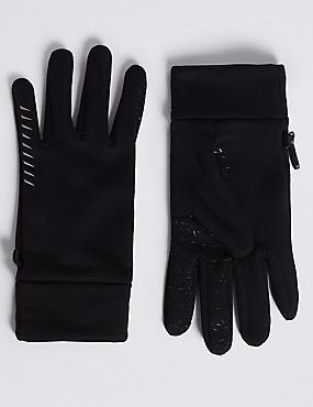 4 Way Stretch Performance Gloves, BLACK, catlanding