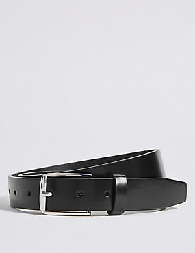Rectangular Buckle Formal Belt, BLACK, catlanding