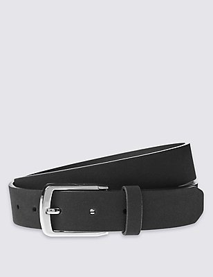 Faux Suede Formal Belt, BLACK, catlanding