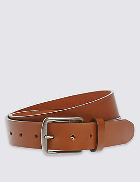 Saddle Edge Leather Belt, TAN, catlanding