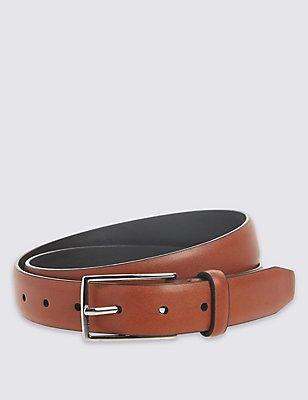Faux Leather Edge Buckle Belt, TAN, catlanding
