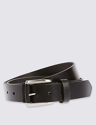 Cinturón de piel informal, NEGRO, catlanding