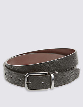 Pebble Grain Formal Reversible Belt, BLACK/BROWN, catlanding