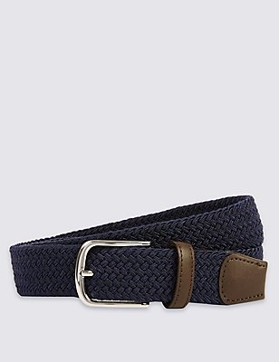 Stretch Web Belt, NAVY, catlanding