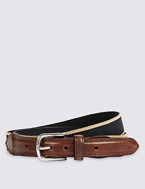 Stretch Woven  Belt, NAVY MIX, catlanding