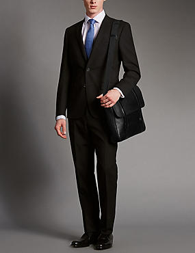 Luxury Leather Dispatch Bag, BLACK, catlanding
