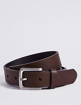 Rectangle Buckle Chino Belt, BROWN, catlanding