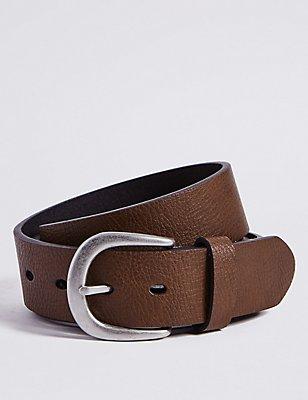 Cinturón denim con hebilla, MARRÓN, catlanding