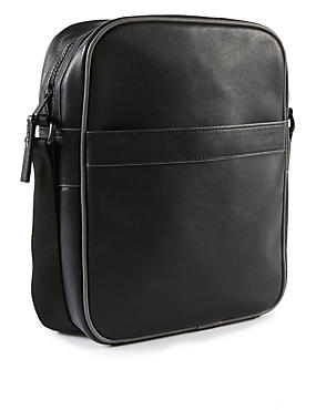 Faux Leather Manbag