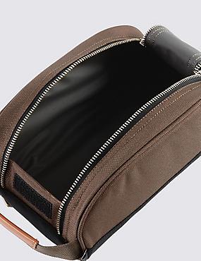 Scuff Resistant Cordura® Washbag, KHAKI MIX, catlanding