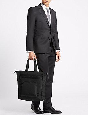 Scuff Resistant Cordura® Tote Bag, BLACK, catlanding