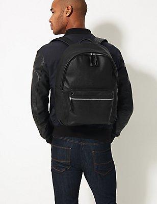 Textured Rucksack, BLACK, catlanding