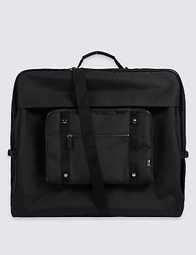 Scuff Resistant Cordura® Suit Carrier, BLACK, catlanding