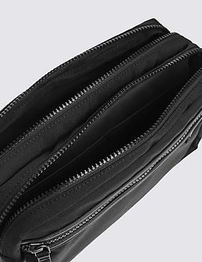 Scuff Resistant Cordura® Washbag, BLACK, catlanding