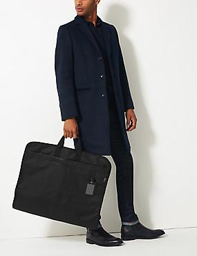 Cordura® Scuff Resistant Commuter Suit Carrier, BLACK, catlanding