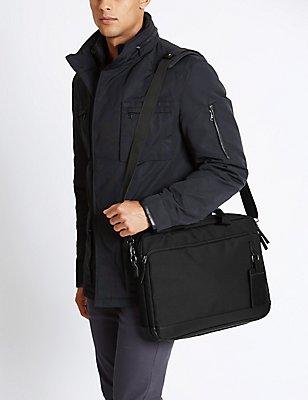 Scuff Resistant Cordura® Laptop Bag, BLACK, catlanding
