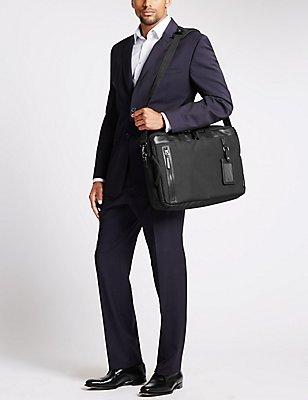 Cordura® Laptop Bag & Concealed Rucksack, BLACK, catlanding