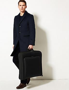 Scuff Resistant Cordura® Moulded Suit Carrier, BLACK, catlanding