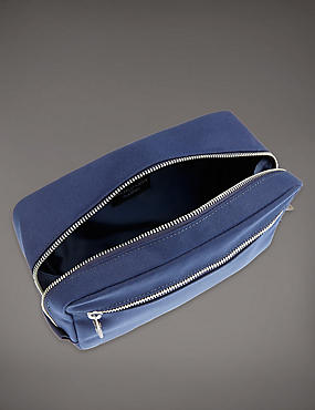 Canvas Washbag, NAVY, catlanding
