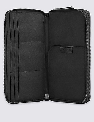 Cordura® Double Travel Wallet with Cardsafe™, BLACK, catlanding