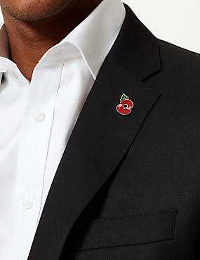 The Poppy® Collection Poppy Lapel Pin, RED MIX, catlanding