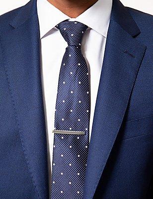 Épingle à cravate à rayures horizontales, ARGENT, catlanding