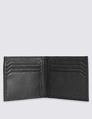 Ensemble porte-carte et portefeuille à deux volets en cuir, NOIR, catlanding