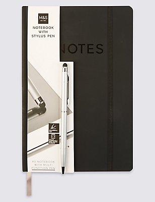 Note Pad & Stylus Pen Set, NO COLOUR, catlanding