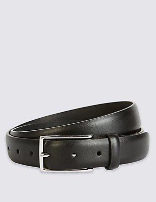 Cinturón de vestir clásico, NEGRO, catlanding