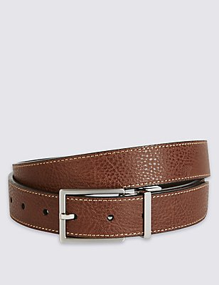 Casual Reversible Belt, BROWN, catlanding