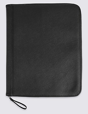 A4 Document Folio , BLACK, catlanding