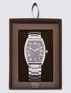 Rectangle Bracelet Watch, GREY MIX, catlanding