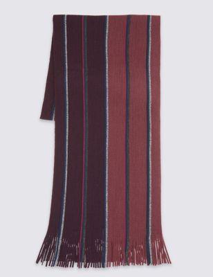 Шарф в комбинированную полоску Raschel M&S Collection T096108M