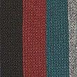 Striped Raschel Scarf, GREEN MIX, swatch